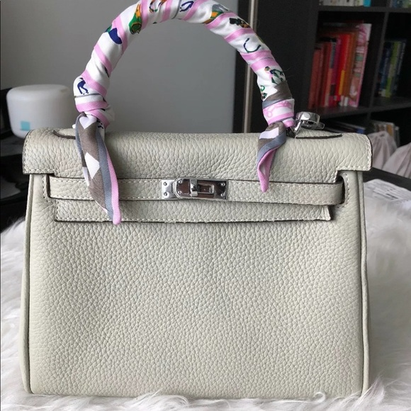 Handbags - LittleBunnyStores Gris Perle KL 25 Silver Hardware